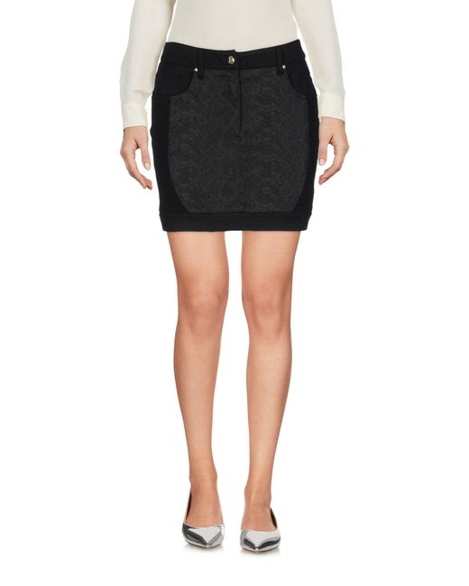 Versace Jeans - Black Mini Skirts - Lyst