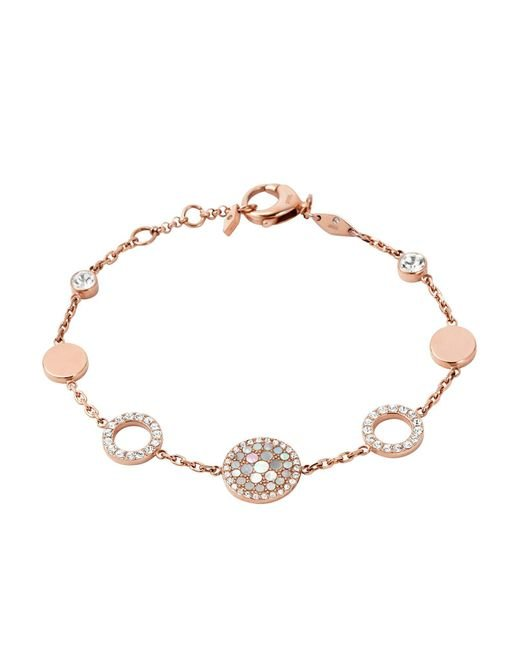 Fossil | Pink Bracelet | Lyst