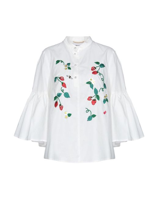 MUVEIL - White Blouse - Lyst