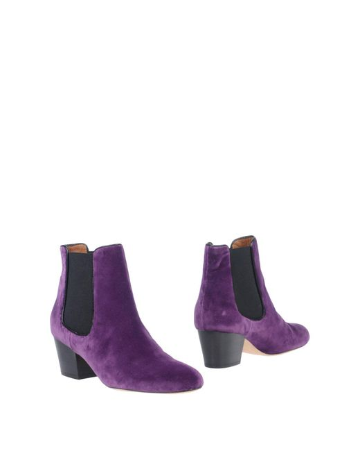 M Missoni - Purple Ankle Boots - Lyst