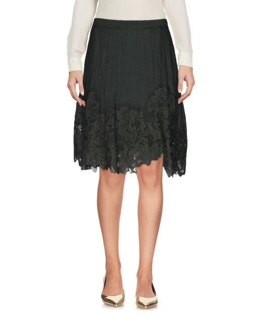 Elie Tahari | Green Knee Length Skirt | Lyst