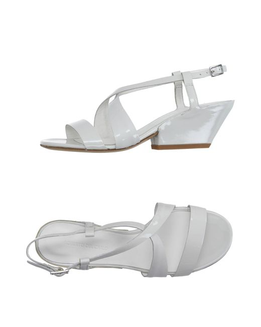 Roberto Del Carlo - White Sandals - Lyst