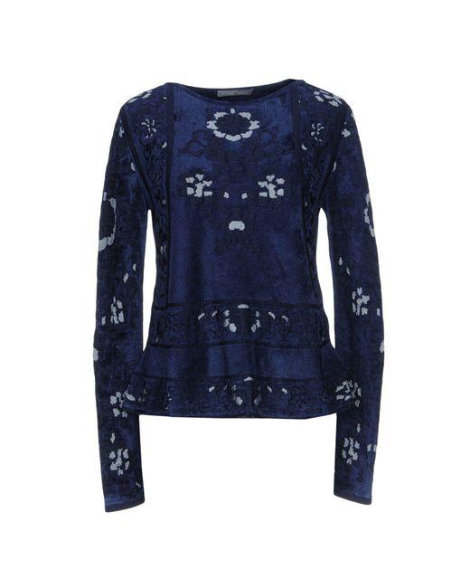 Alberta Ferretti - Blue Sweater - Lyst