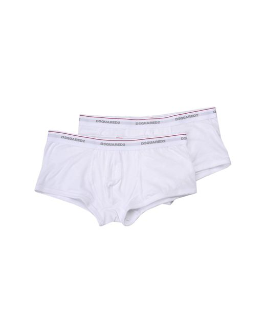 DSquared² - White Boxer for Men - Lyst