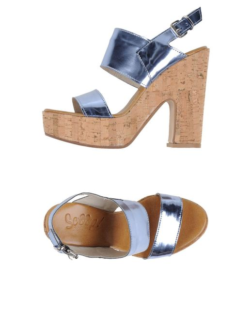 Scoop - Blue Sandals - Lyst