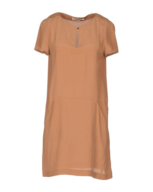Vanessa Bruno Athé - Natural Short Dress - Lyst