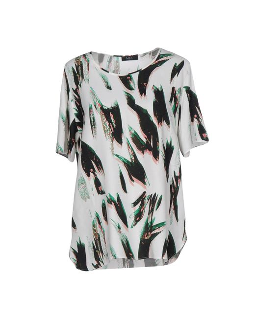 Paul Smith Black Label - White Blouse - Lyst