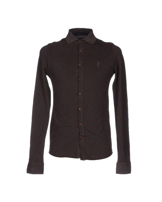Cooperativa Pescatori Posillipo - Brown Shirt for Men - Lyst