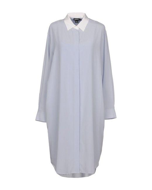DKNY - Blue Knee-length Dresses - Lyst