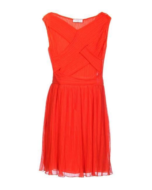 Sandro Red Short Dress