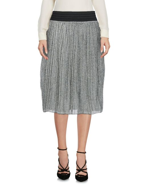 Brigitte Bardot - Metallic 3/4 Length Skirts - Lyst