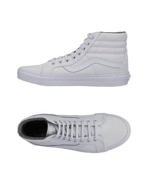 Vans - Gray High-tops & Sneakers for Men - Lyst
