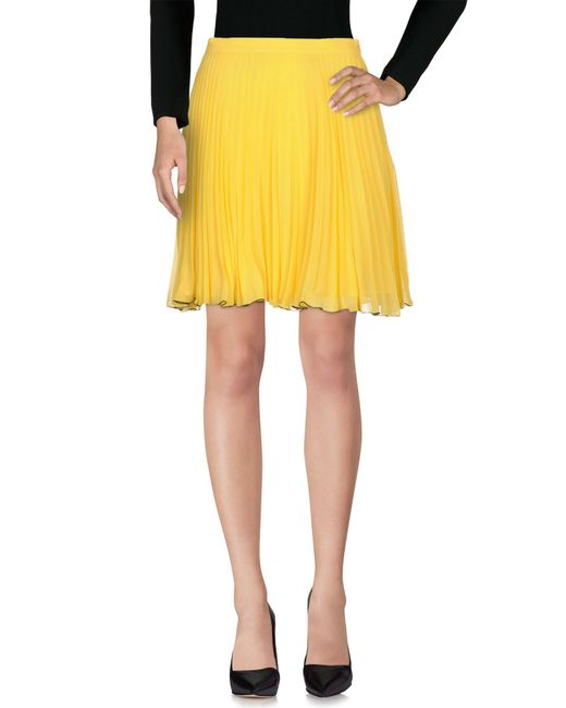 Boutique Moschino - Yellow Knee Length Skirt - Lyst