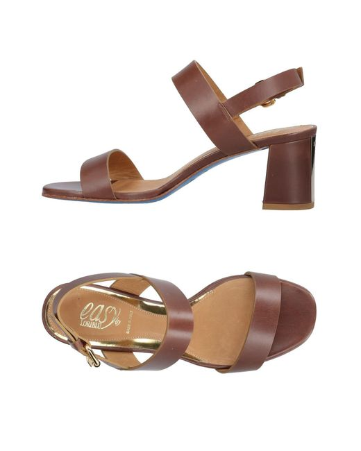 Loriblu - Brown Sandals - Lyst