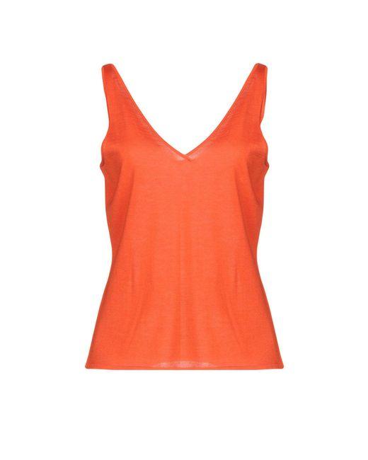 Ralph Lauren Black Label - Orange Top - Lyst