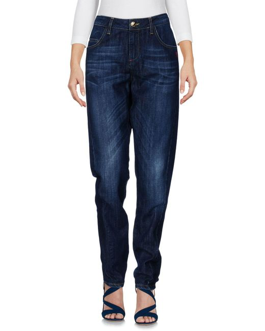 Scee By Twin-set - Blue Denim Pants - Lyst