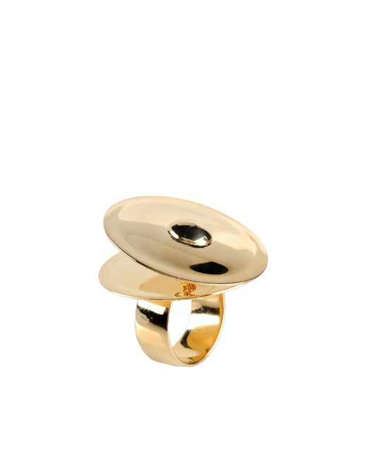 MM6 by Maison Martin Margiela | Metallic Ring | Lyst