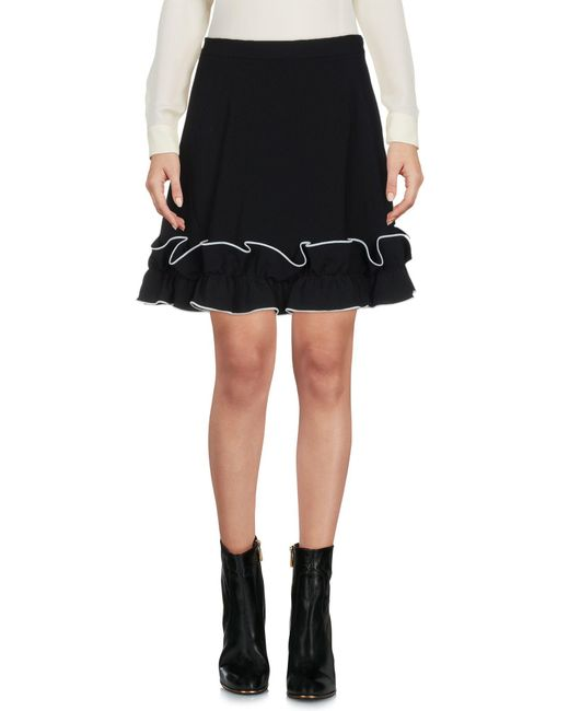Boutique Moschino - Black Mini Skirt - Lyst