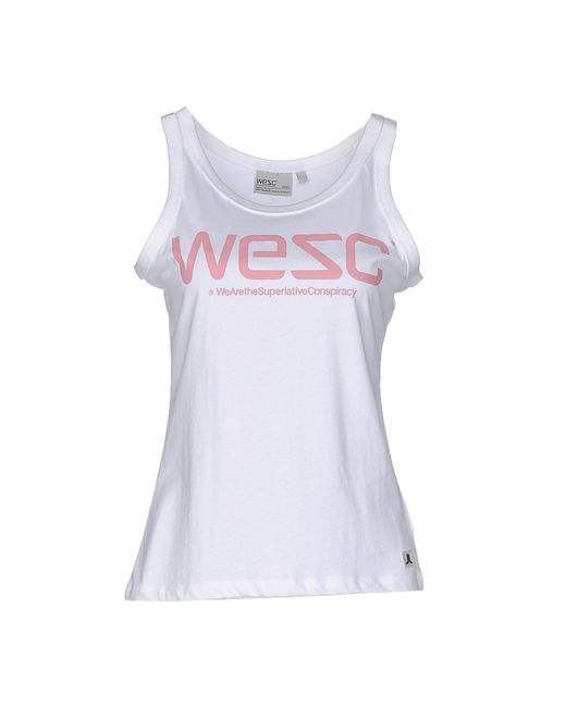 Wesc - White Tank Top - Lyst
