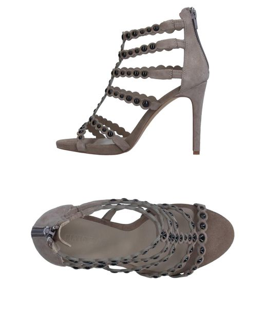 Elvio Zanon - Gray Sandals - Lyst