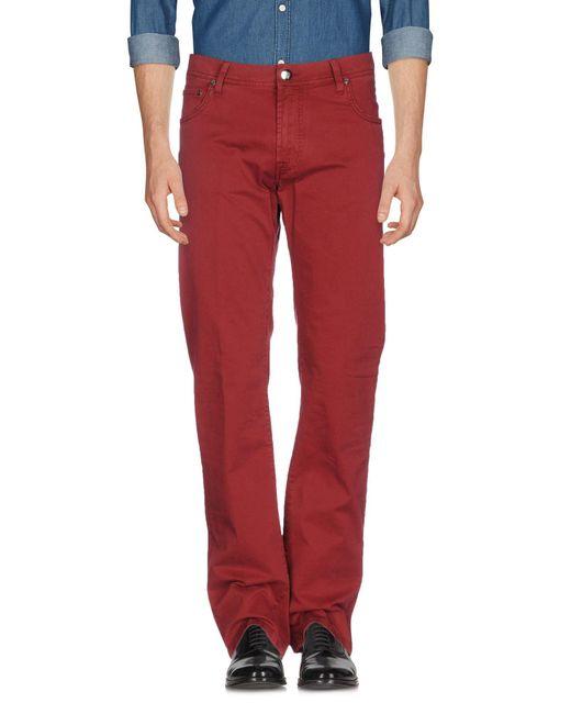 Corneliani - Red Casual Pants for Men - Lyst