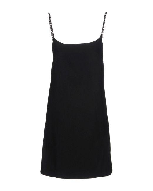 Ermanno Scervino Black Short Dress