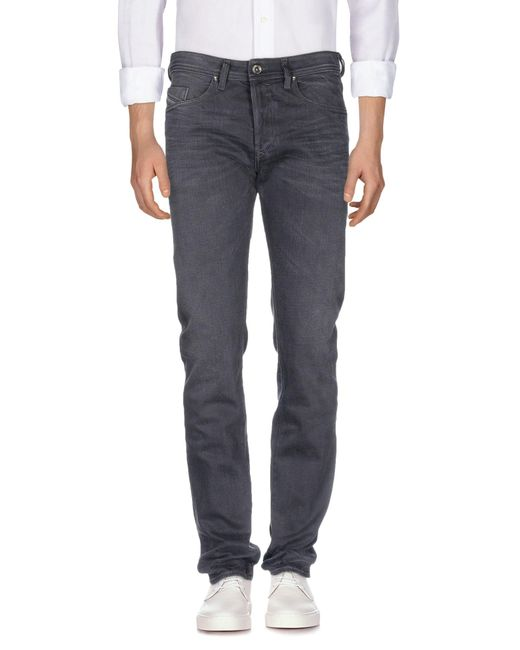 DIESEL - Black Denim Trousers for Men - Lyst