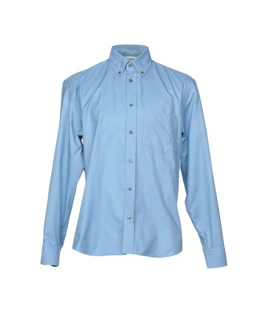 Umit Benan | Blue Shirt for Men | Lyst