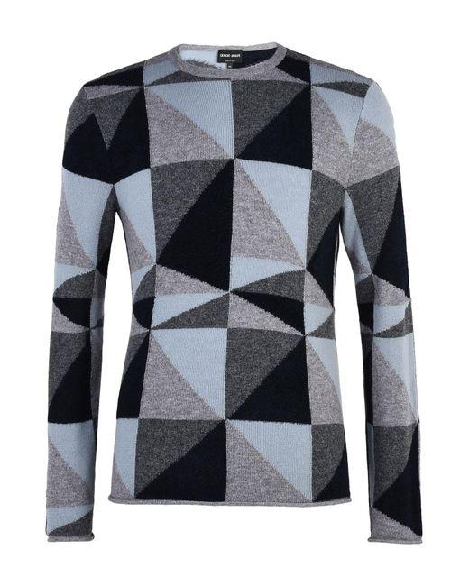 Giorgio Armani Gray Sweater for men