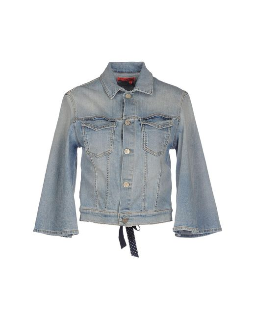 Manila Grace - Blue Denim Outerwear - Lyst