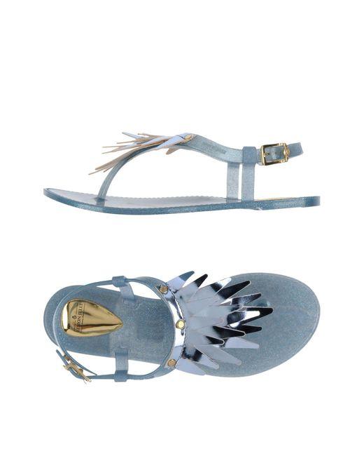 Lemon Jelly - Blue Toe Strap Sandal - Lyst