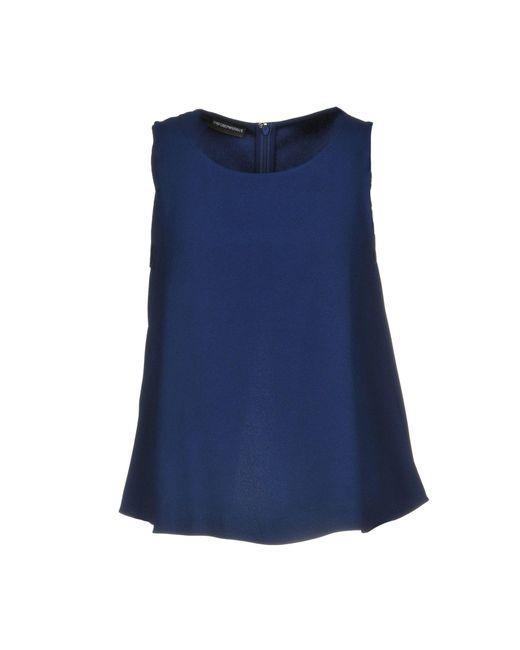 Emporio Armani - Blue Top - Lyst