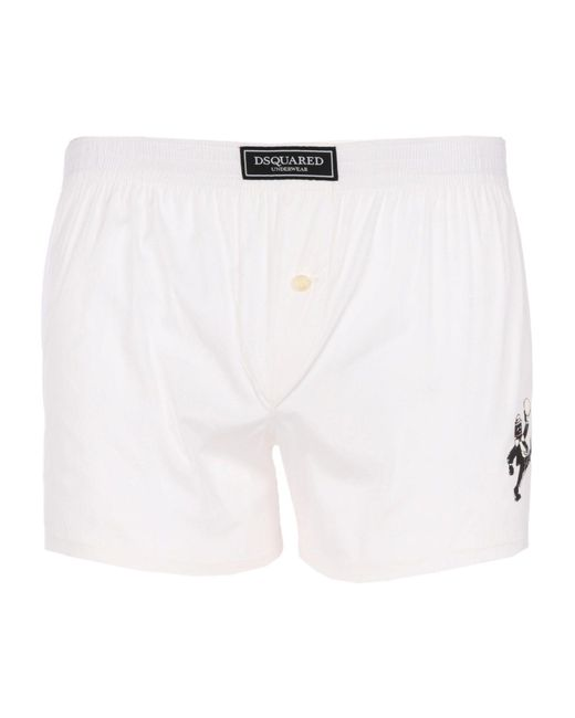 DSquared² | White Boxer for Men | Lyst