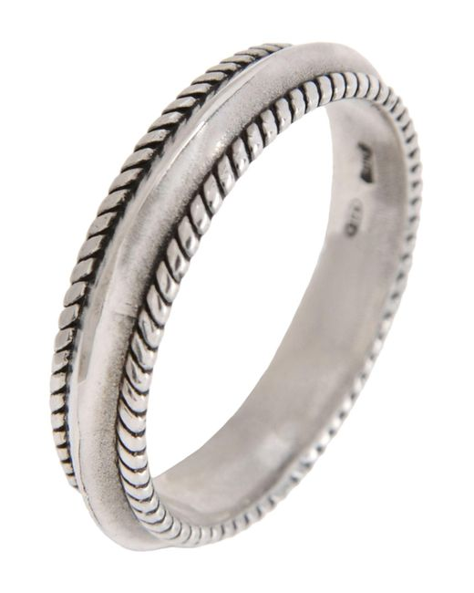 First People First - Metallic Ring for Men - Lyst