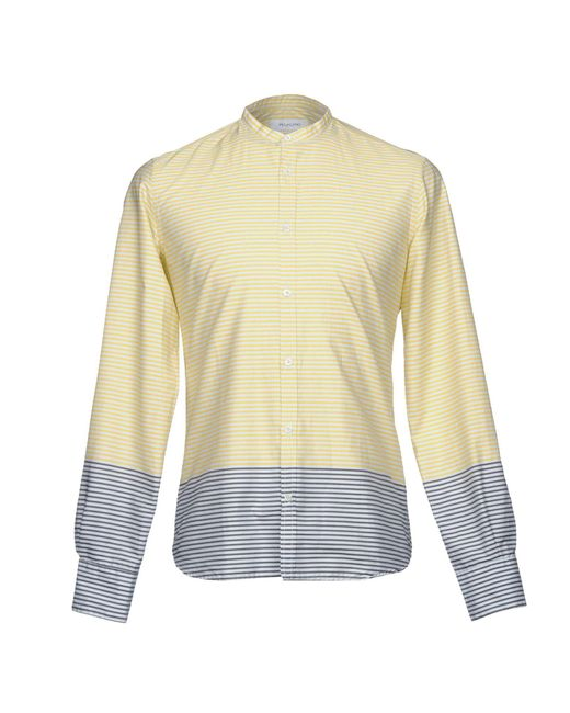 Aglini - Yellow Shirt for Men - Lyst
