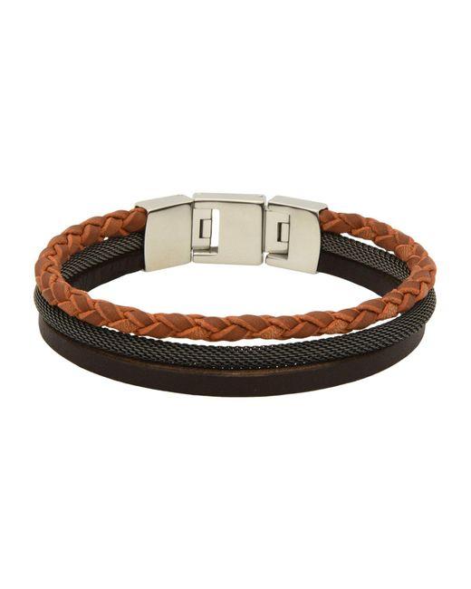 Fossil | Black Bracelets | Lyst