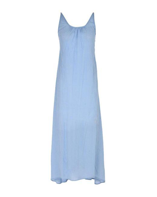 Bobi - Blue 3/4 Length Dress - Lyst