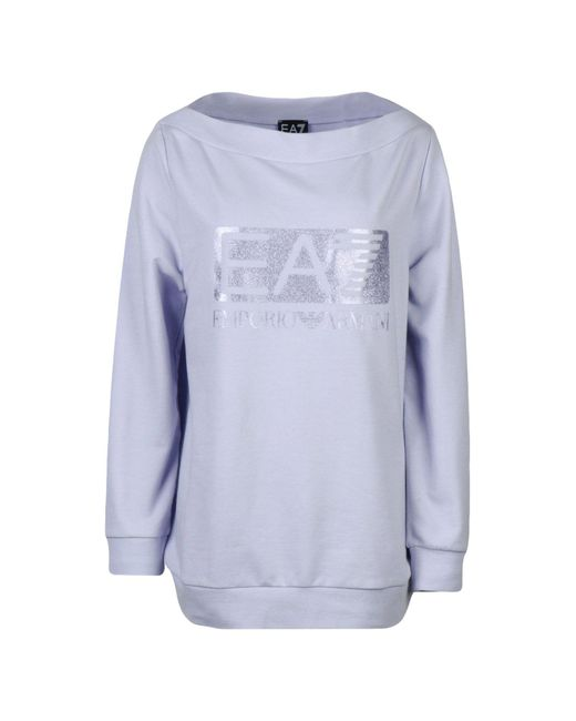 EA7 | Purple Sweatshirt | Lyst