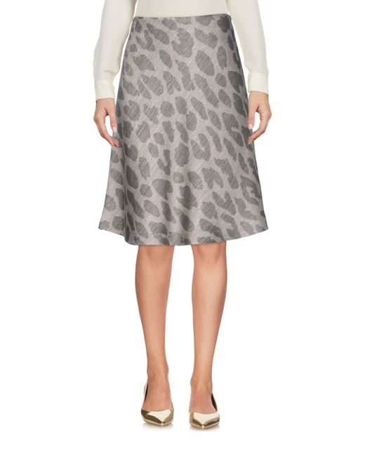 Armani - Natural Knee Length Skirt - Lyst