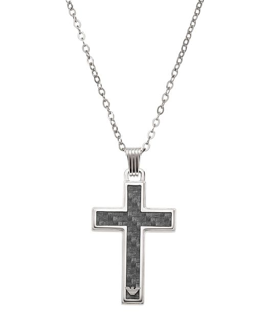 John Lewis - Metallic Emporio Armani Men's Cross Necklace - Lyst