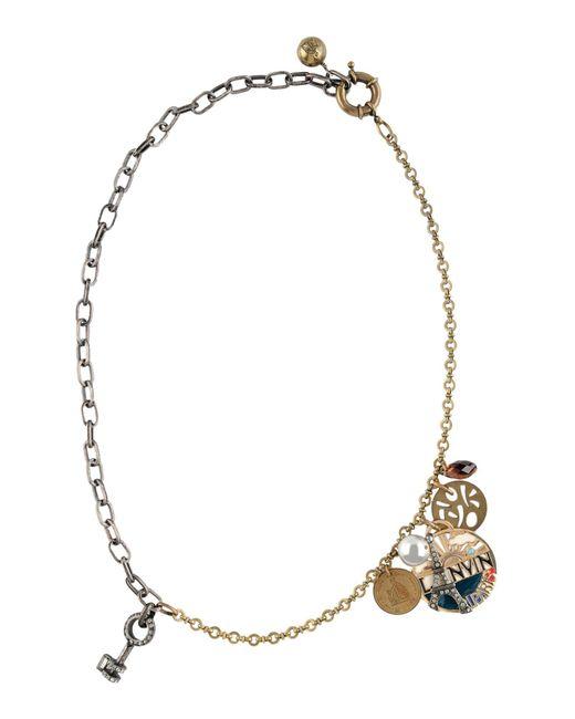 Lanvin | Metallic Necklace | Lyst