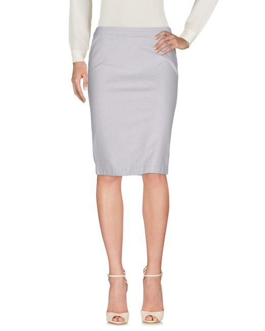Armani Jeans - Gray Knee Length Skirts - Lyst