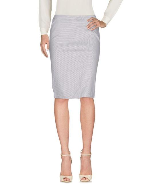 Armani Jeans - Gray Knee Length Skirts - Lyst