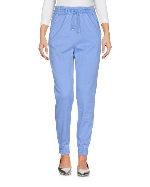 Love Moschino - Blue Denim Trousers - Lyst