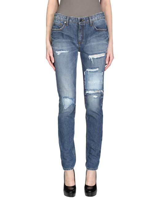 Victoria Beckham Blue Denim Pants