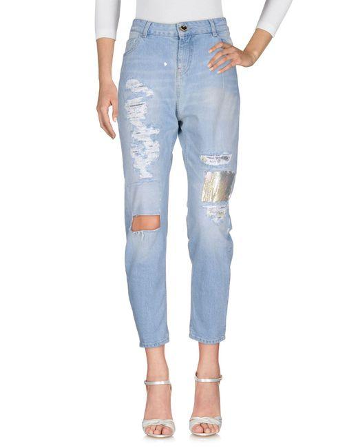 Twin Set - Blue Jeanshose - Lyst