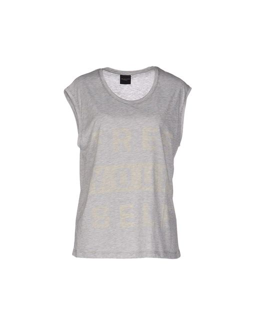 SELECTED - Gray T-shirt - Lyst