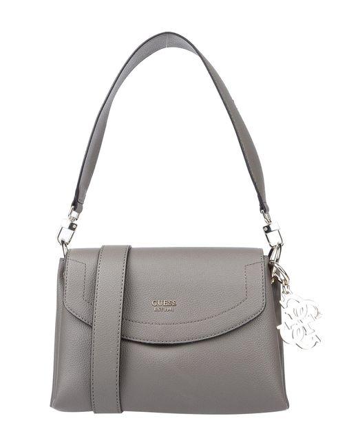 63bf2cf5f7 Guess - Gray Shoulder Bag - Lyst ...