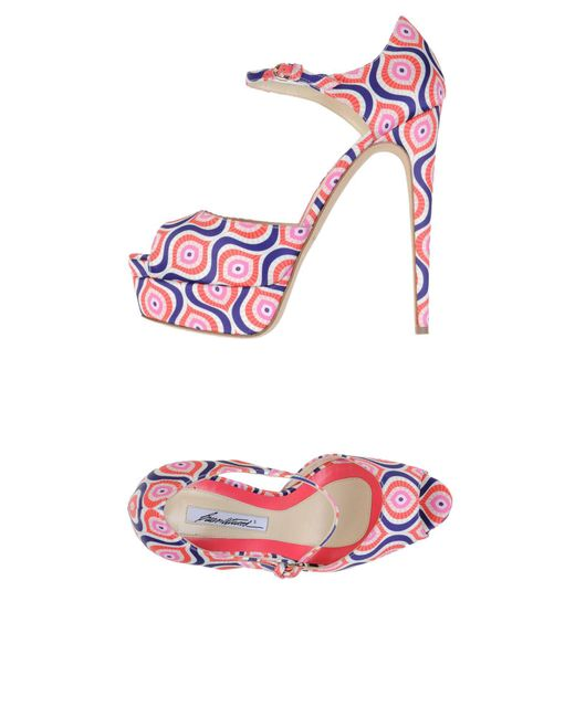 Brian Atwood - Pink Sandals - Lyst