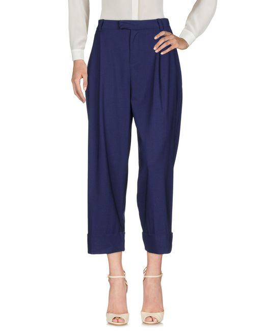 Malloni | Blue Casual Trouser | Lyst